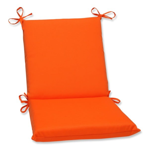 Shop Pillow Perfect Orange Outdoor Chair Cushion