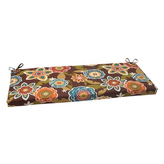 Pillow Perfect Chocolate Outdoor Bench Cushion