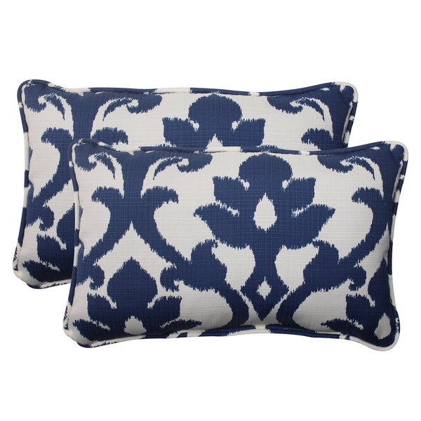 Navy Throw Pillow Sets : Pillow Perfect Navy Outdoor Throw Pillows (Set of 2) - Free Shipping On Orders Over $45 ...