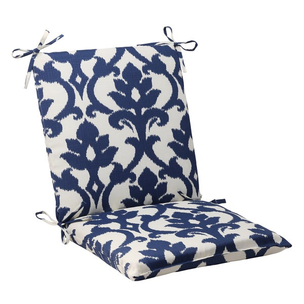 Shop Pillow Perfect Bosco Polyester Navy Squared Outdoor Chair