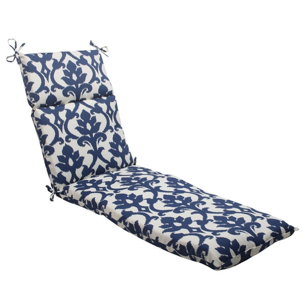 Pillow Perfect Bosco Polyester Navy Outdoor Chaise Lounge Cushion Free Ship