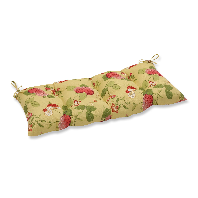 Pillow Perfect Outdoor Indoor Risa Lemonade Swing Bench Cushion Overstock 7820409