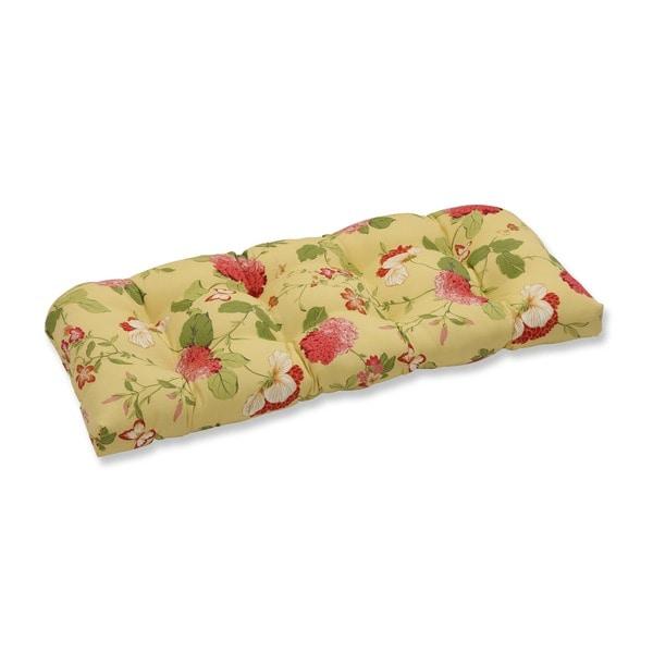 Pillow Perfect Lemonade Loveseat Cushion