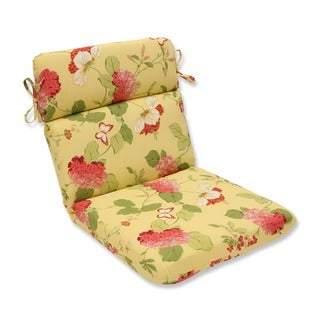 Pillow Perfect 'Risa' Lemonade Rounded Indoor/ Outdoor Chair Cushion