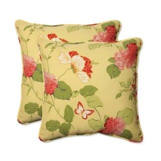 Pillow Perfect 'Risa' Lemonade Corded Indoor/ Outdoor Throw Pillows (Set of 2)