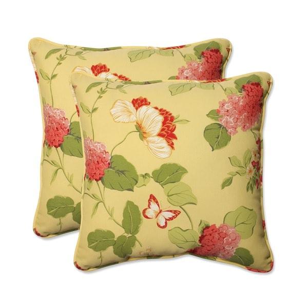 Pillow Perfect Risa Lemonade Corded Indoor Outdoor