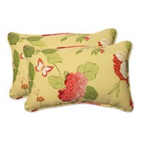 Pillow Perfect 'Risa' Lemonade Weather-Resistant Corded Indoor/Outdoor Throw Pillows (Set of 2)