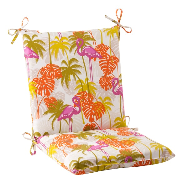 Shop Pillow Perfect Plume Squared Indoor Outdoor Chair Cushion