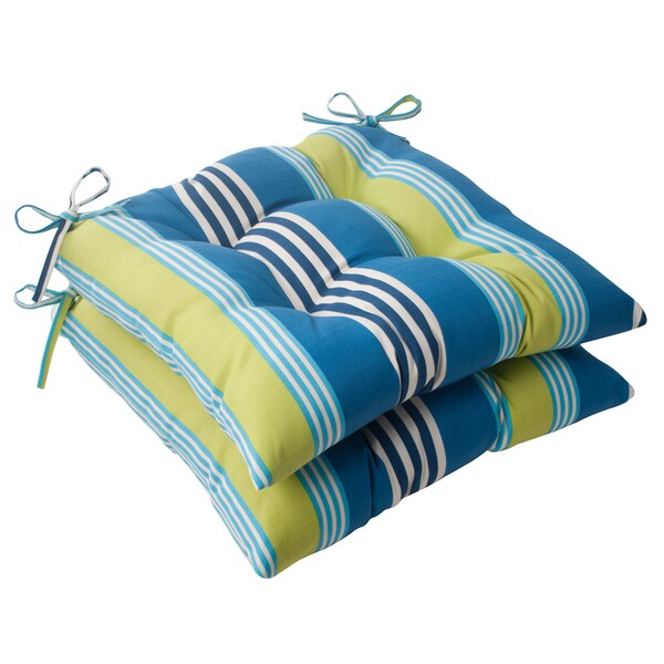 Waverly Sun-n-Shade Oncore Lagoon Tufted Seat Cushions (Set of 2)