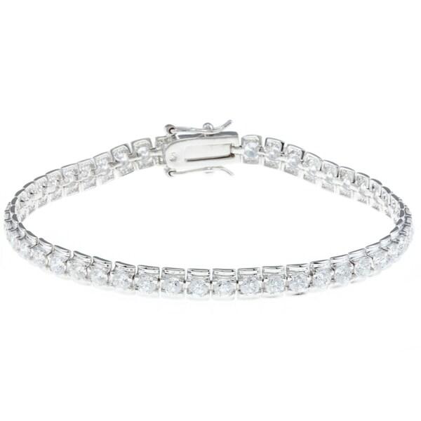 JARDIN Clear Cubic Zirconia Tennis Bracelet