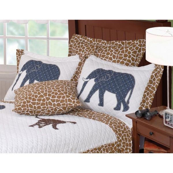 Greenland Home Fashions Jungle Story Quilted Sham (Set of 2)