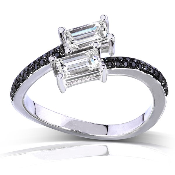Annello by Kobelli 14k White Gold 7/8ct TDW Black and White Diamond Band (H-I, VS1-VS2)