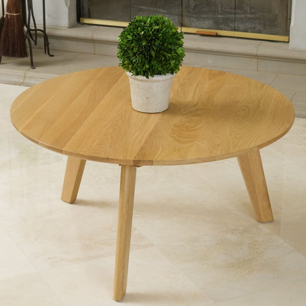 Russert Solid Oak Table by Christopher Knight Home
