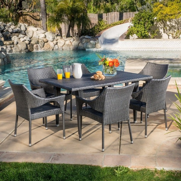 Cliff 7-piece Outdoor Dining Set by Christopher Knight Home
