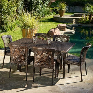 Dusk 7 Piece Outdoor Dining Set By Christopher Knight Home