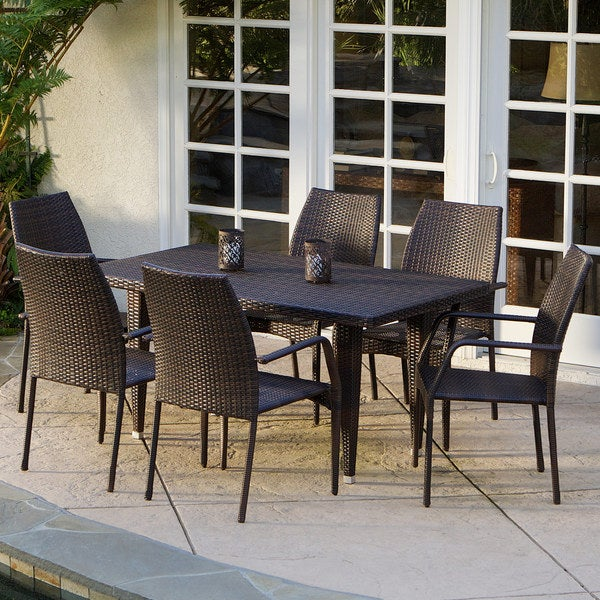 a9104ce6f323 Shop Canoga 7-piece Outdoor Dining Set by Christopher Knight Home ...
