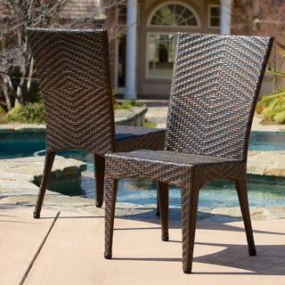 Brooke Outdoor Wicker Chairs (Set of 2) by Christopher Knight Home