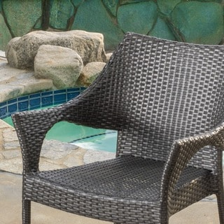 Cliff Outdoor Wicker Chairs (Set of 2) by Christopher Knight Home