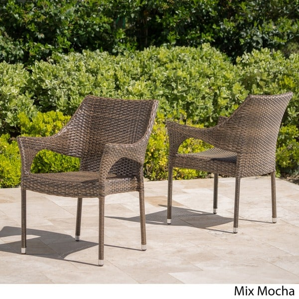Cliff Outdoor Wicker Chairs By Christopher Knight Home   Free Shipping  Today   Overstock.com   15211291