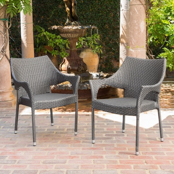 shop cliff outdoor wicker chairs by christopher knight home free