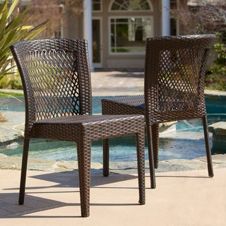 Dusk Outdoor Wicker Chairs (Set of 2) by Christopher Knight Home