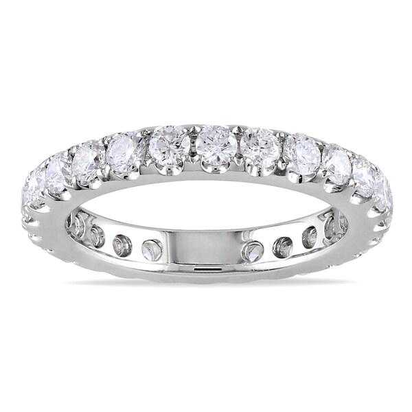 Miadora 14k White Gold 1ct TDW Diamond Eternity Ring (G-H, I1-I2)