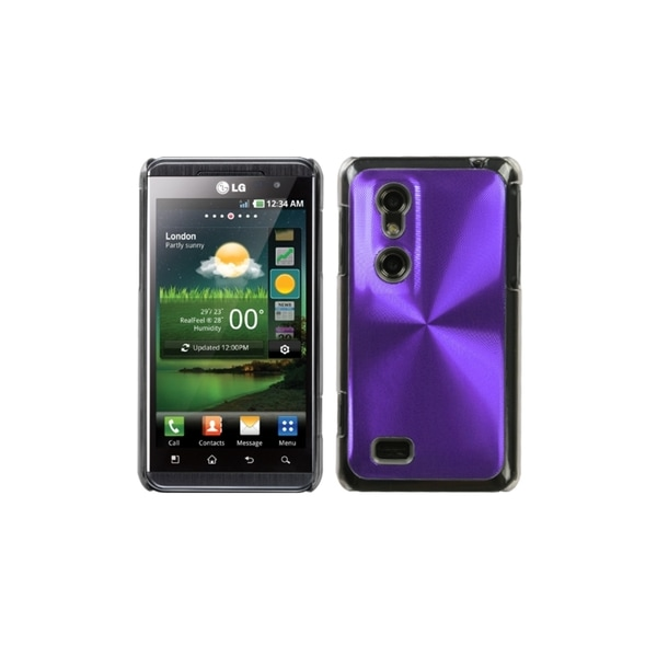 INSTEN Purple Cosmo Back Case Cover for LG P925 Thrill 4G