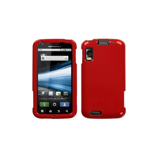 INSTEN Solid Flaming Red Case Cover for Motorola MB860 Olympus/ Atrix 4G