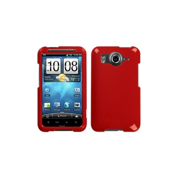 INSTEN Solid Flaming Red Case Cover for HTC Inspire 4G