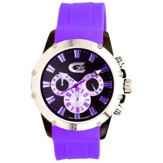 Croton Purple/ Black Chronograph Watch