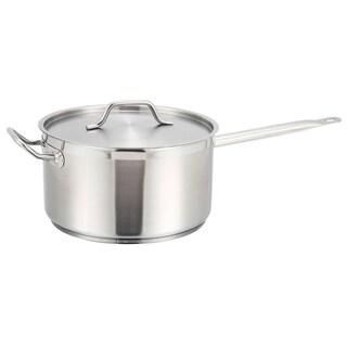 Winco Premium Stainless Steel 7.5-quart Saucepan