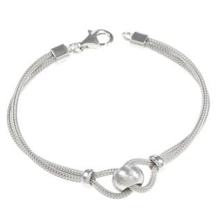 La Preciosa Sterling Silver Mesh and Bead Bracelet