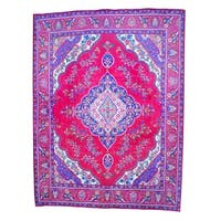 Herat Oriental Persian Hand-knotted Tabriz Wool Rug (9'11 x 13') - 9'11 x 13'