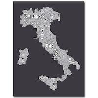 Michael Tompsett 'Italy in Charcoal' Canvas Art