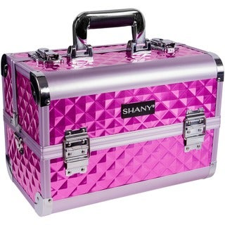 Shany Premium Collection Purple Diamond Makeup Train Case