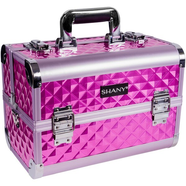 Shany Premium Collection Purple Diamond Makeup Train Case. Opens flyout.