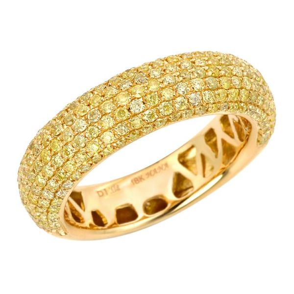 18k Yellow Gold 1ct TDW Yellow Diamond Pave Band