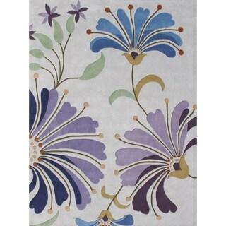 Alliyah Handmade Light Purple New Zealand Blend Wool Rug (6' x 9')