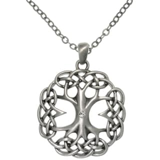 Carolina Glamour Collection Pewter Alloy Celtic Tree of Life Necklace