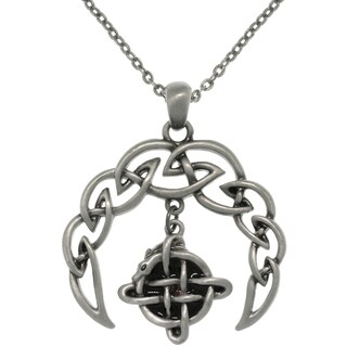 Pewter Alloy Celtic Crescent Necklace