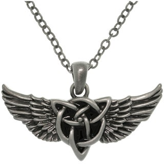 Carolina Glamour Collection Pewter Alloy Winged Celtic Knot Necklace