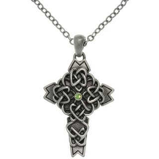 Pewter Alloy Celtic Cross Necklace|https://ak1.ostkcdn.com/images/products/7821316/7821316/CGC-Pewter-Alloy-Celtic-Cross-Necklace-P15211739.jpg?impolicy=medium