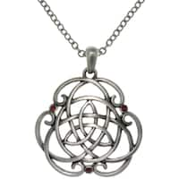 Pewter Alloy Trinity Scroll Knot Necklace