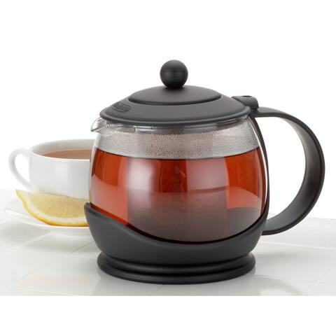 BonJour Tea Glass Prosperity Black Teapot