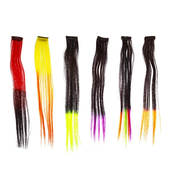 Shany Neon Straight Hair Extensions Set 1
