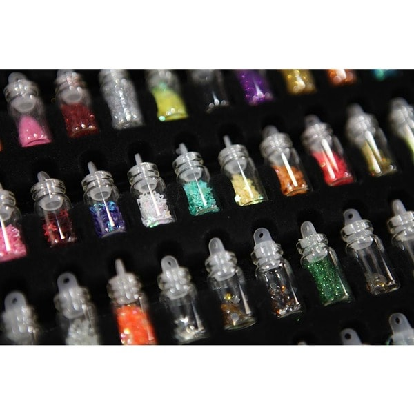 Shany 3d nail art decoration mini bottles 48 glass bottles with shany 3d nail art decoration mini bottles 48 glass bottles with free nail art tweezer free shipping on orders over 45 overstock 15211826 prinsesfo Image collections