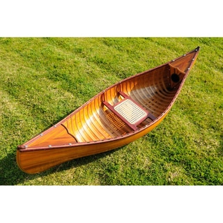 Old Modern Handicrafts 6-Foot Ribbed Cedar Display Canoe