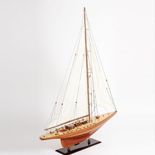 Old Modern Handicrafts Shamrock V Yacht Large Model Ship