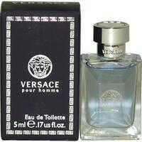 Versace Pour Homme Men's 0.17-ounce Eau de Toilette Splash (Mini)