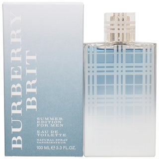 Burberry Brit Men's 3.3-ounce Eau de Toilette Spray (Summer Edition)